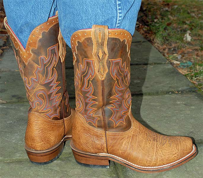 Boulet Cutter Toe Cowboy Boots