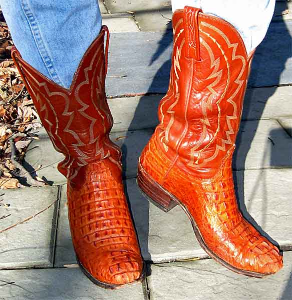 Lucchese Caiman Alligator Cowboy Boots
