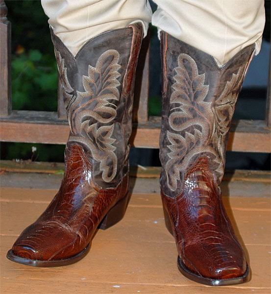 225ee11f428 Dan Post Brown Ostrich Leg Cowboy Boots