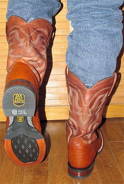 Dan Post Square Toe Ostrich Cowboy Boots