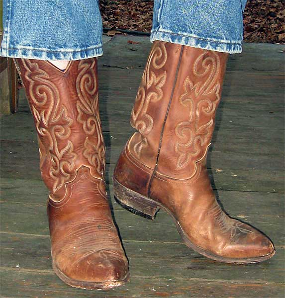 Brown Distressed Cowboy Boots