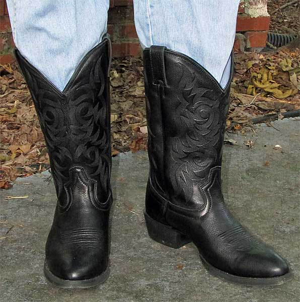 Justin Black Cheap Chinese Cowboy Boots