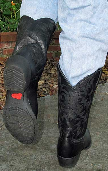 Justin Black Cheap Chinese Cowboy Boots