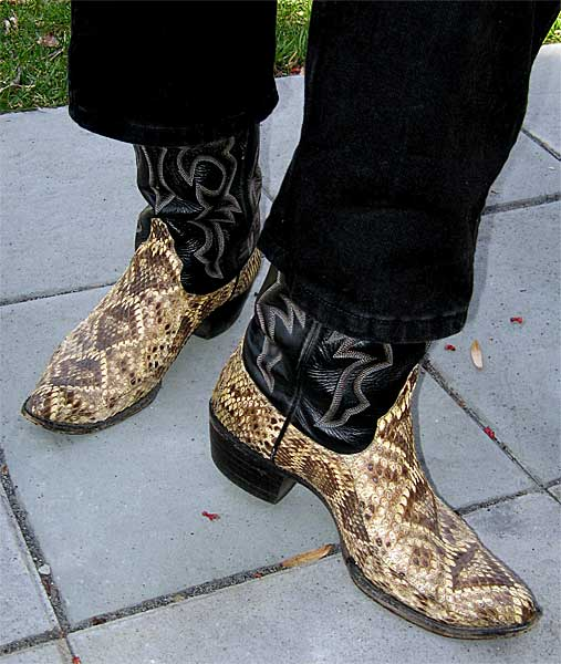 good selling how to get rock-bottom price Larry Mahan Rattlesnake Boots