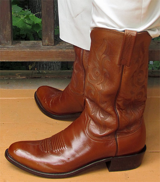Lucchese Antique Brown Dress Cowboy Boots