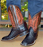 Lucchese Short Crocodile Belly Boots