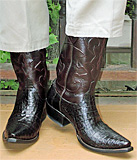 Lucchese Crocodile Belly Boots