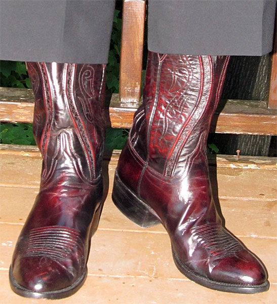 Lucchese Goat Black Cherry Dress Boots
