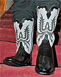 Black Grey Dress Cowboy Boots