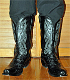 Lucchese Black Hornback Caiman Boots