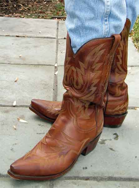 Dark Tan Lucchese 1883 Cowboy Boots