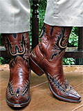 Lucchese Brown Wingtip Boots