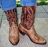 Lucchese Tan Ostrich Boots