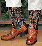 Lucchese caiman tail cowboy boots