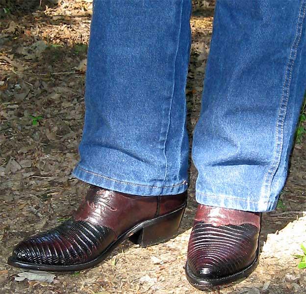 Lucchese Lizard Wingtip Cowboy Boots