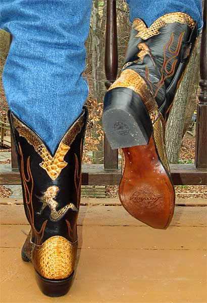 Lucchese Python Cowboy Boots