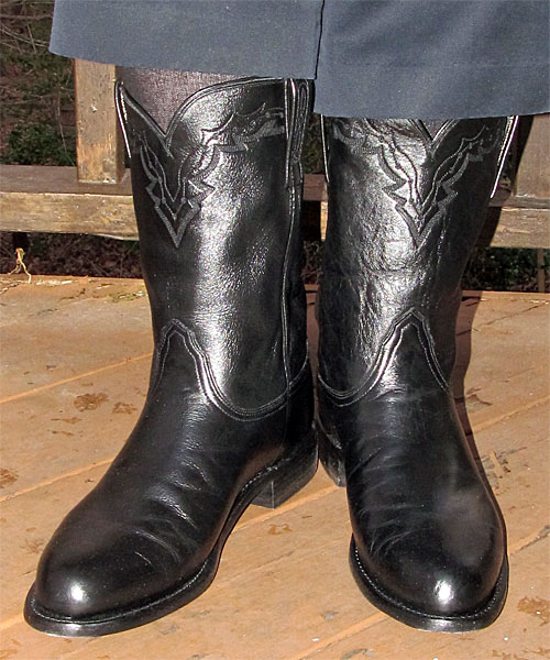 Lucchese Black Roper Boots