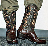 Nocona Ostrich Brown Square Boots