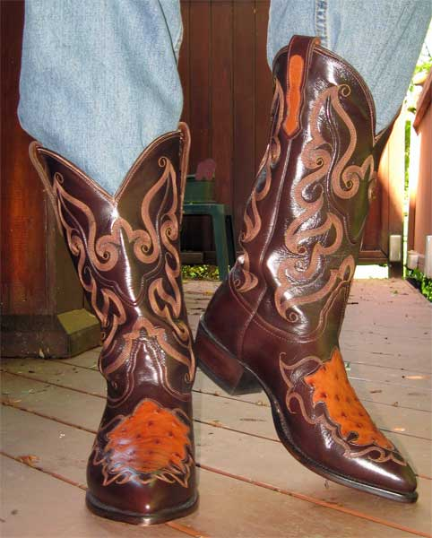 Nocona Ostrich Inlay Boots