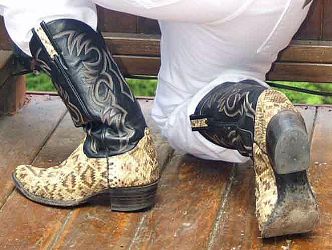 Larry Mahan Rattlesnake Boots