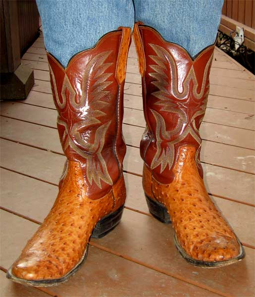 Mexican Ostrich Cowboy Boots