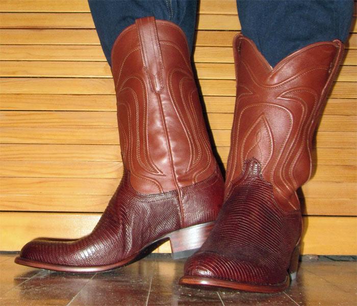 Tecovas Nolan Bourbon Lizard Cowboy Boots