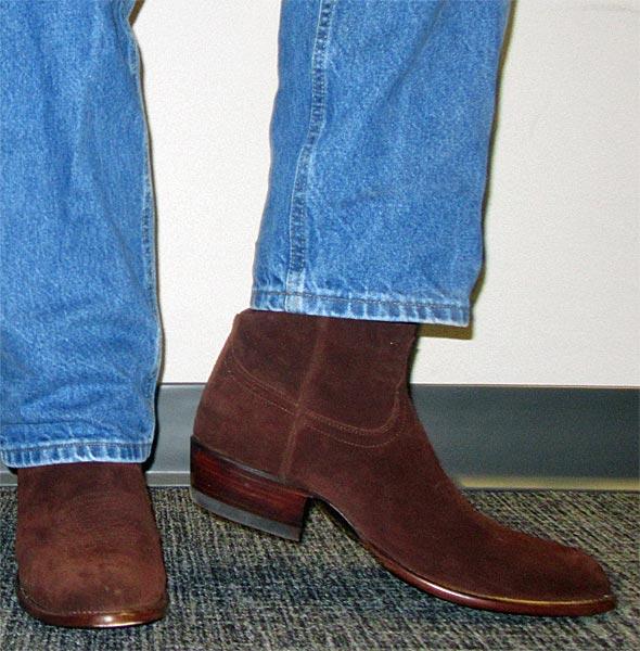 25d1e646dfc Tecovas Johnnie Mocha Suede Cowboy Boots