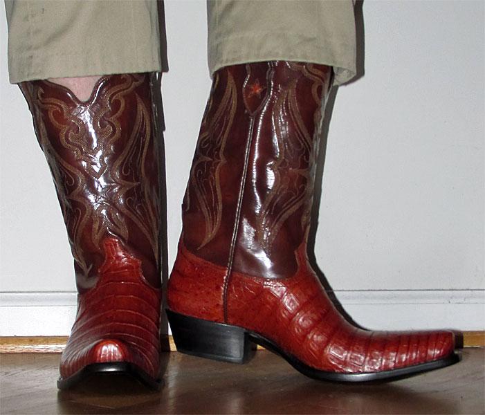 Tony Lama Caiman Cowboy Boots