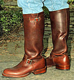 Chippewa Brown Engineer Boots