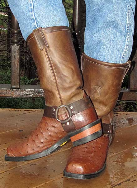 Chippewa Ostrich Harness Boots