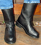 Short Chippewa Ostrich Engineer Boots