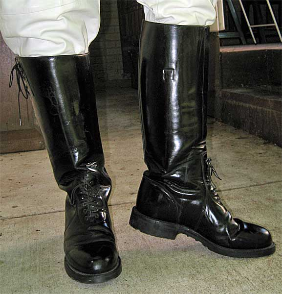 Chippewa motor patrol boots Police motor boots