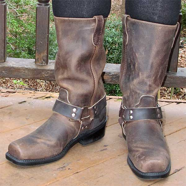 Brown Double H Harness Boots