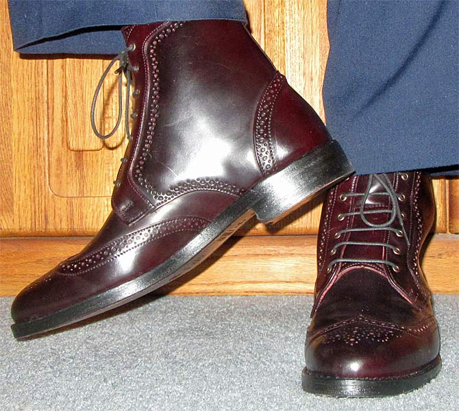 dalton cordovan dress boots