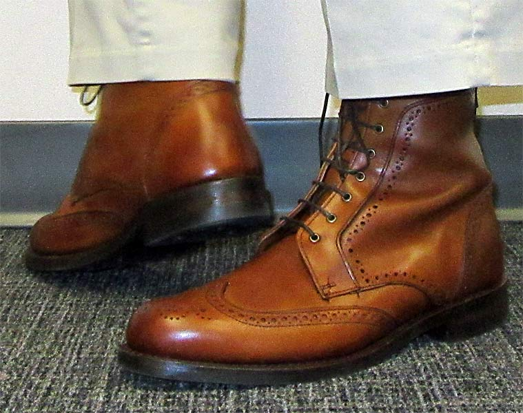 Allen Edmonds Dalton Walnut Boots