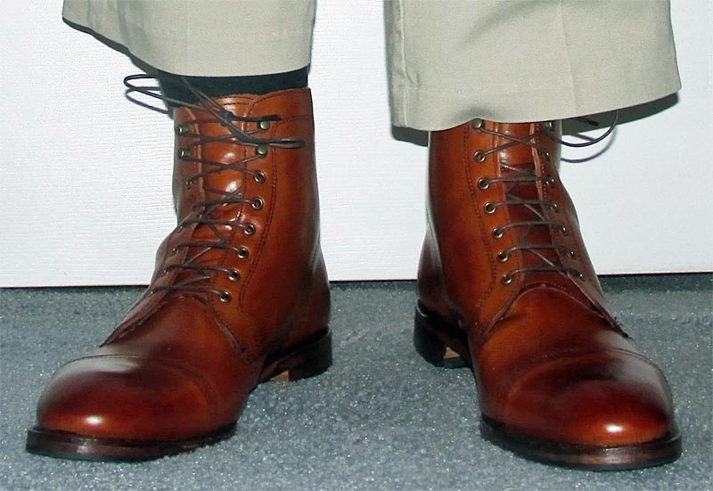 Allen Edmonds Walnut First Avenue Boots