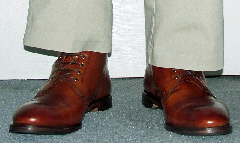 Allen Edmonds Walnut First Avenue Boots