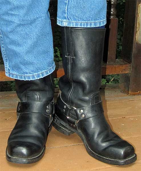 Black Frye Motorcycle Harness Boots