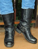 Short Frye Motorcycle Boots