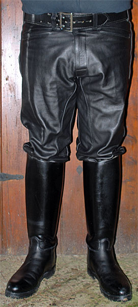 Leather Motorcycle Breeches