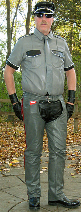 Grey Motorcycle Chaps