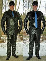Formal Leather Suit