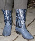 Nocona Blue Ostrich Boots