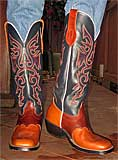 Olathe Brown/Blue Buckaroo Boots