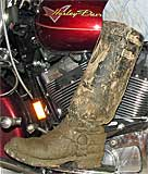 Mudded Wesco Harness Boots