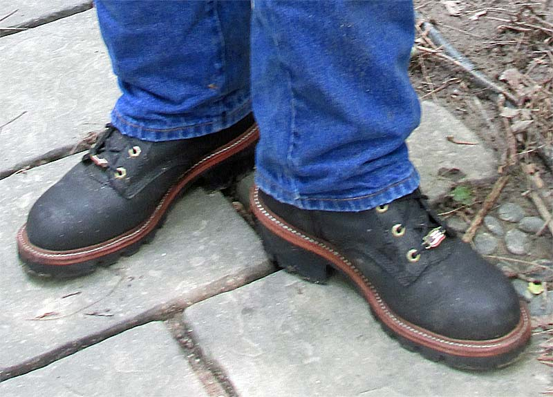 Chippewa Black Logger Boots