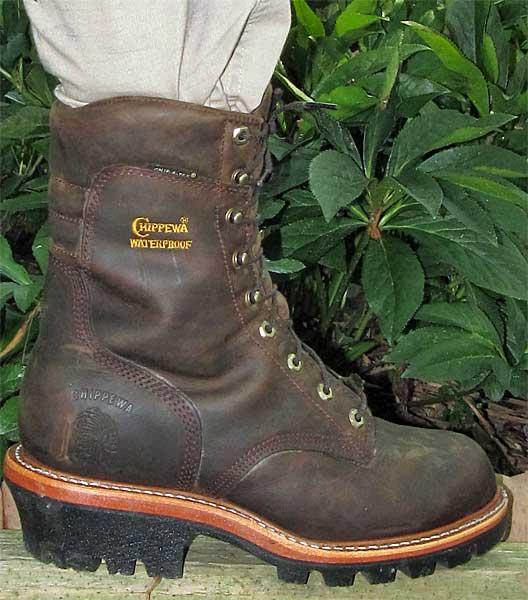 Chippewa Brown Logger Boots